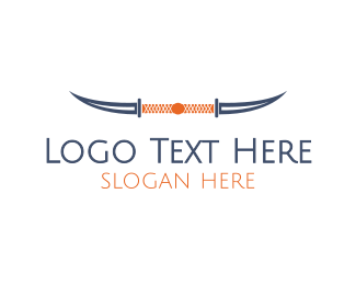 Katana - Knife Horns logo design