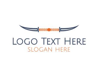 Samurai - Knife Horns logo design