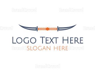 Blade - Knife Horns logo design