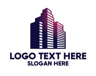 Architectural Firm - Sunset Boulevard Condominium logo design