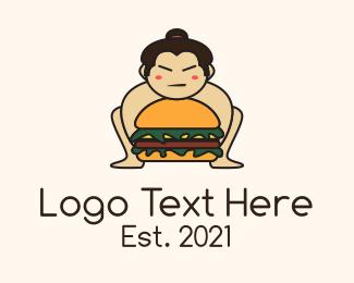 Restaurant - Sumo Wrestler Burger  logo design