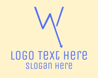 Economy - Recession W logo design