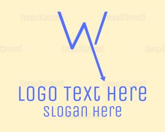 Vertical - Recession W logo design
