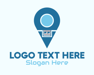 Geolocator - Flash Drive Location Pin logo design