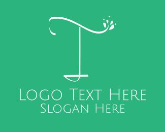 Yogi - Floral Letter T logo design
