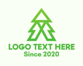 Pine Tree - Green Pine Tree logo design