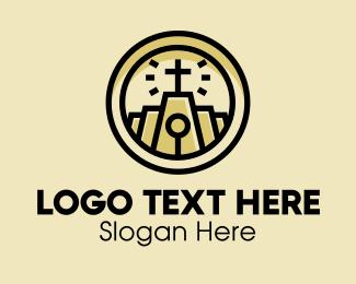 Church - Holy Church Chapel Crucifix logo design