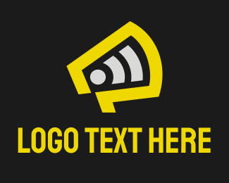 Publish - Orange Megaphone logo design