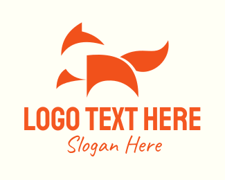 Coyote - Minimal Orange Fox logo design