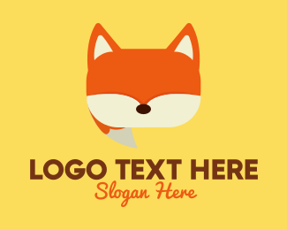 Translation - Orange Fox Chat logo design