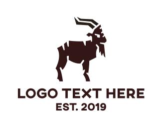 Farm - Modern Goat Farming logo design