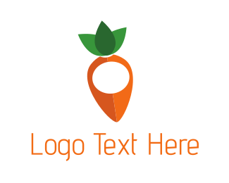 Vegetable - Carrot Vegetable Point logo design