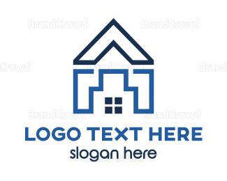 Roof - Blue Roof House logo design