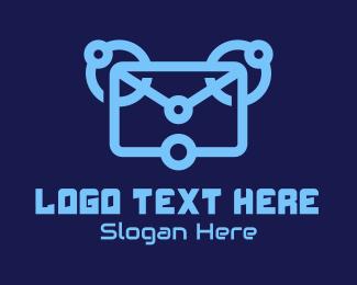 Email - Blue Digital Email  logo design