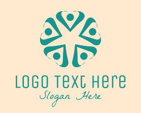 Together - Blue Heart Group logo design