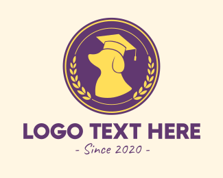 Bachelors Degree - Dog Graduation Badge  logo design