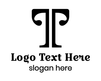 Tuscany - Black Vogue T logo design
