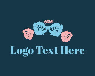 Sovereign - Crown & Flowers logo design
