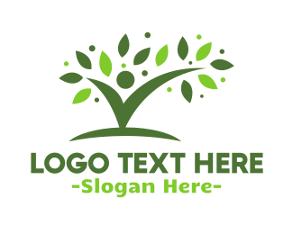 Human Tree - Check Man logo design