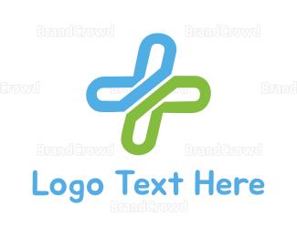 Better - Cross Letter X logo design