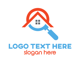 Magnifying Glass - Magnifying Glass House logo design