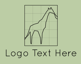 Great - Giraffe Grid logo design