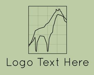 Grid - Giraffe Grid logo design