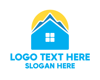 Stylized - Mountain Home  logo design