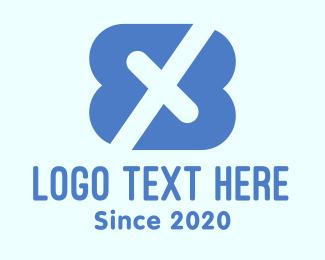 Letter X - Blue Letter X logo design