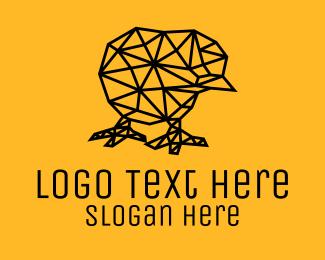 Chick - Simple Chick Line Art logo design