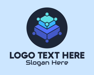Platform - Blue Tech Platform logo design