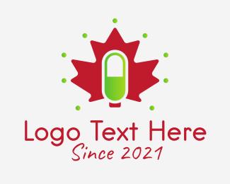 Maple - Canadian Pharmacy Drug logo design
