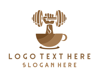 Bodybuilder - Strong Coffee logo design