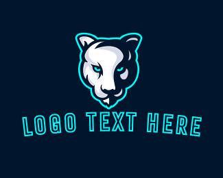Sports - Albino Tiger Mascot logo design