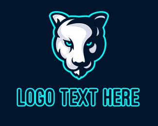 Tiger - Albino Tiger Mascot logo design