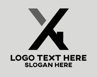 House - Construction Letter X logo design