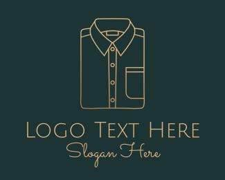 Seamstress - Men's Shirt Monoline logo design