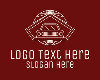 Car Restoration - Vintage Automobile Car Garage logo design