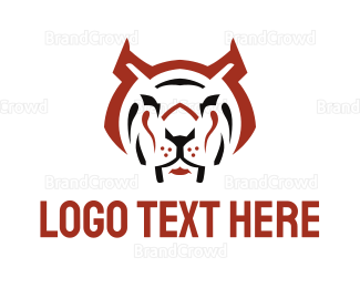 Carnivore - Red Angry Tiger  logo design