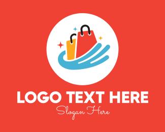 Sparkle - Sparkling Shopping Bags logo design