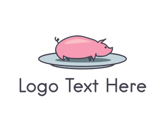 Dish - Pork Plate  logo design