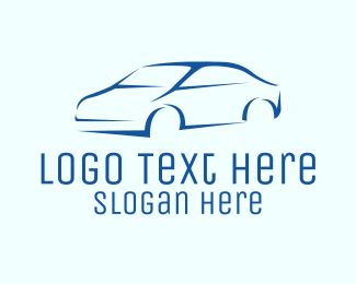 Automotive - Blue Car Dealer  logo design