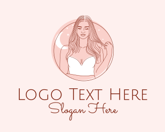 Model - Woman Beauty Salon logo design