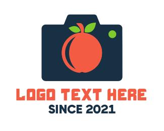 Fresh Fruit - Fruit Photography Camera logo design