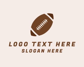 Brown And White - Brown Football Ball logo design