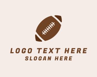 Football - Brown Football Ball logo design