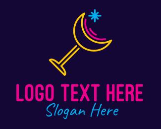 Restaurant - Neon Nightclub Bar logo design