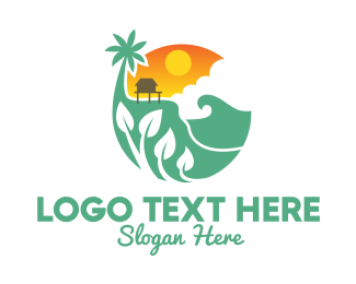 Ocean - Ocean Vacation House logo design