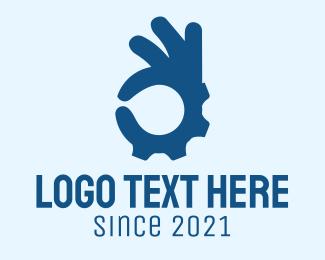 Hand Gesture - Blue Hand Gesture  logo design