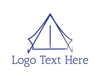 Shelter - Blue Tent logo design